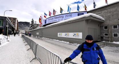 entrada do fórum de Davos