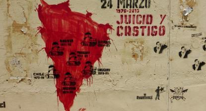 Mapa de ditaduras na América do Sul. Mural na Argentina. Foto de caminandolibertad/Flickr.