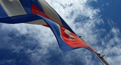 Bandeira cubana. Foto de Lucía Martínez/Flickr.