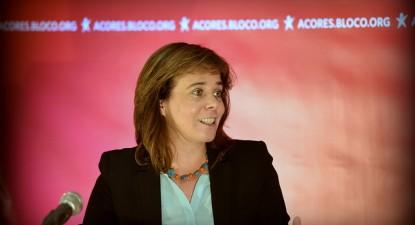 Catarina Martins salienta que o Bloco foi o partido que mais cresceu, apesar da subida da abstenção - Foto de Paulete Matos