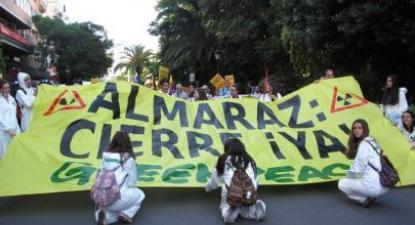 Manifestação pelo encerramento da central nuclear de Almaraz, 11 de junho de 2016 – Foto de Almerinda Bento