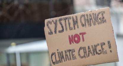 Manifestação pelo Clima. Foto de Gustave Deghilage/Flickr.
