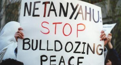 Cartaz contra Netanyahu em 1997.