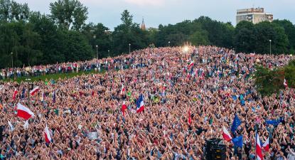 Manifestação contra a reforma do sistema judicial. Polónia, julho de 2017.