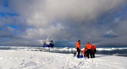 Expedição científica no Ártico