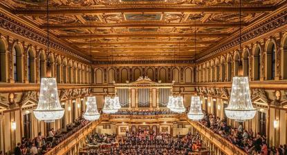 Filarmónica de Viena a tocar na Musikverein. Fotografia DR