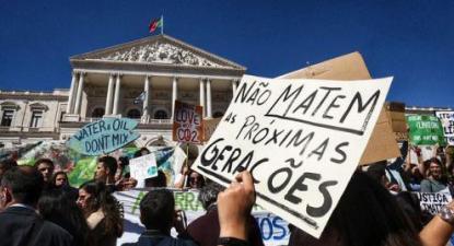 Manifestação da greve estudantil climática de 15 de março em Lisboa. Foto Paula Nunes.