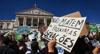 Greve estudantil climática internacional: manifestação em Lisboa. Março 2019.