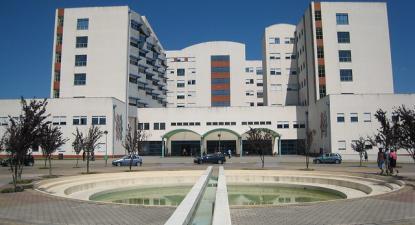 Hospital de São Teotónio em Viseu que integra o Centro Hospitalar Tondela-Viseu.