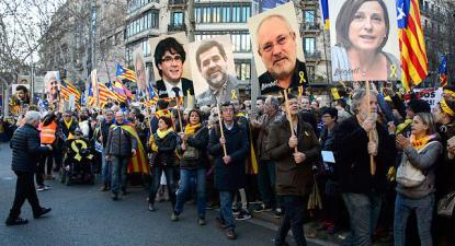 Manifestação na Catalunha