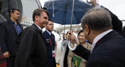 Bolsonaro chega ao Japão. Foto de Alan Santos/PR
