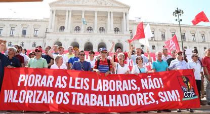 Manifestação da CGTP a 10 Julho de 2019.