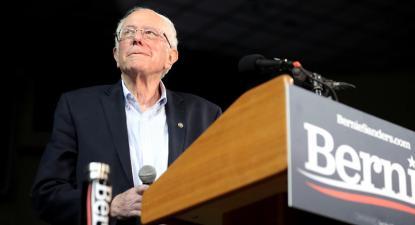 Sanders em campanha em Phoenix, Arizona, março de 2020. Foto de Gage Skidmore/Flickr.