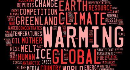Gráfico de palavras relacionadas com aquecimento global.