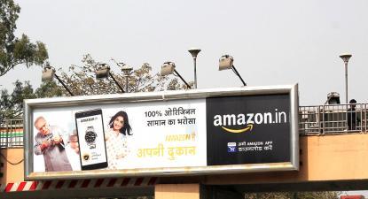 Anúncio Amazon na Índia