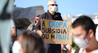 Protesto pela justiça climática em Lisboa