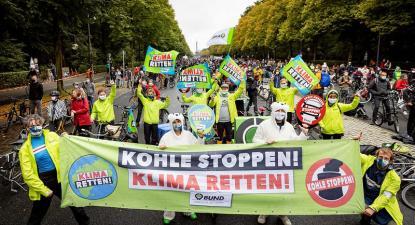 Manifestação da greve climática em Berlim