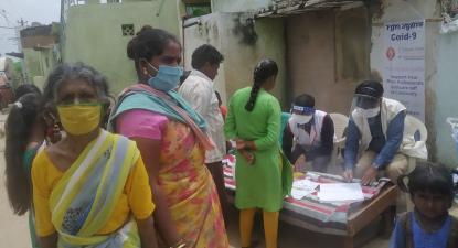 Testagem à covid na Índia