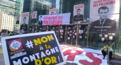 Manifestação contra a Montanha de Ouro. Abril de 2019. Foto da Or de question/Facebook.