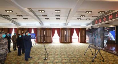 Xi Jinping visita um hospital em Wuhan. Março de 2020. Foto de fotospublicas.com.