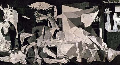 Reprodução do quadro Guernica de Picasso.