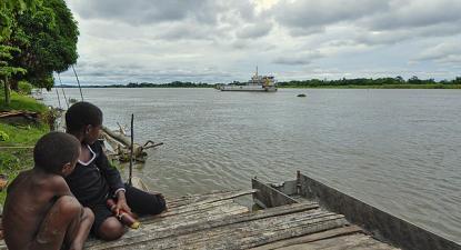 Rio Sepik, na Papua-Nova Guiné, uma zona ameaçada pelo projeto mineiro na região.
