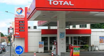 Posto de abastecimento de combustível da Total.