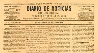 Capa do primeiro número do Diário de Notícias.