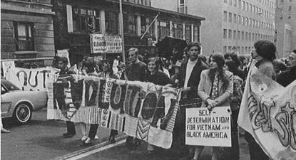 Manifestação de estudantes da Universidade de Columbia - abril/maio de 1968