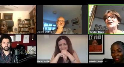 Marisa Matias juntou-se a Jeremy Corbyn, Danièle Obono, David Miranda e Gyeke Tanoh num debate online