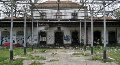 Antiga gare da Estação da Boavista no Porto. 2008.