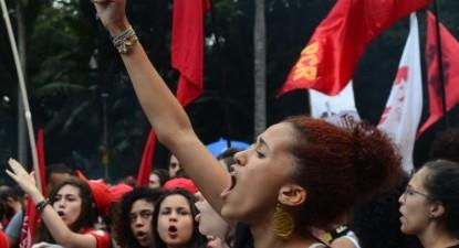 Protesto contra a reforma da Previdência, em São Paulo. Foto Carta Capital