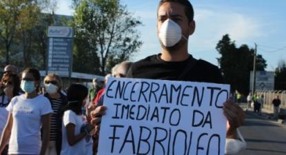 Manifestação em Torres Novas - foto de Esquerda.Net