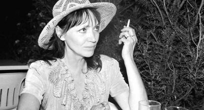 Anna Karina em 1994 em Villandraut - foto de Philippe Luzarey/wikipedia