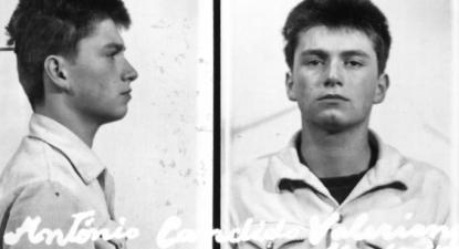 Foto da ficha de António Cândido Franco na PIDE. Tinha 16 anos.