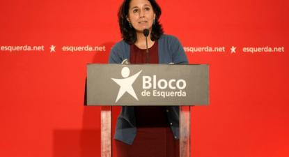 Alexandra Vieira, candidata do Bloco à Câmara Municipal de Braga, 14 de maio de 2021 – Foto de Hugo Delgado/Lusa