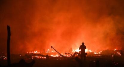 Incêndio em Porto Velho no dia 9 de setembro de 2019. Foto de Fernando Bizerra Jr, Lusa/EPA.