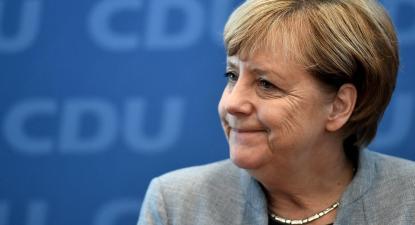 Angela Merkel obteve o pior resultado da CDU na Baixa Saxónia em 58 anos. Foto de Christian Bruna, EPA/Lusa.