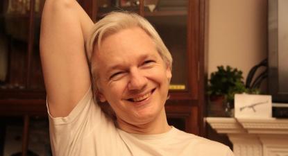Julian Assange, numa foto publicada pelo próprio esta sexta-feira.