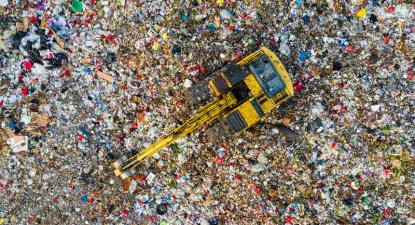 Aterro de lixo. Foto de Tom Fisk no Pexels.