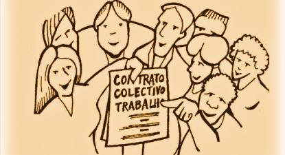 Contrato Coletivo de Trabalho. Imagem da CGTP.
