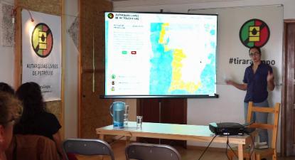 Foto da apresentação do mapa em 23 setembro de 2017