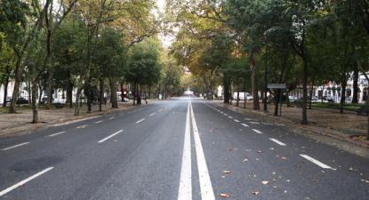 Avenida da Liberdade, 14 de novembro de 2020 – Foto de António Pedro Santos/Lusa