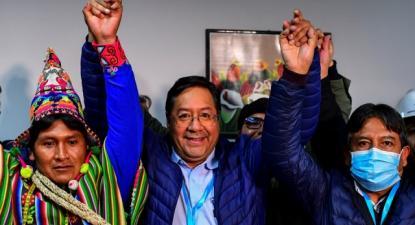 O triunfo de Luis Arce na primeira volta surpreendeu até dentro das fileiras do MAS – foto de Correspondencia de Prensa
