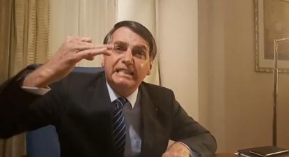 Bolsonaro passou quase todos os 23 minutos da intervenção que fez na madrugada a partir da Arábia Saudita a insultar e ameaçar a Globo.
