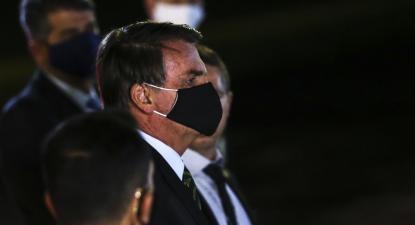 Jair Bolsonaro de máscara. Foto de Marcello Casal Jr/Agência Brasil.