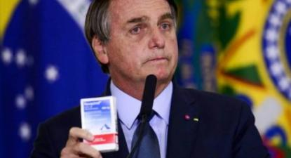 """Bolsonaro """"defendeu pessoalmente o uso da cloroquina, apesar de cientistas terem advertido sobre os efeitos tóxicos de sua utilização"""" – Foto agência Brasil"""