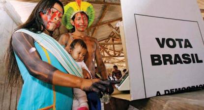 Nas eleições municipais brasileiras, foram eleitas pelo menos 237 candidaturas indígenas, segundo dados da Articulação dos Povos Indígenas do Brasil – Foto Outras Palavras