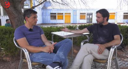José Soeiro entrevista Bruno Maia - Foto esquerda.net