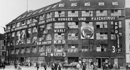 Sede do KPD, o Partido Comunista da Alemanha, no final dos anos 1920. Foto: wikimedia commons.